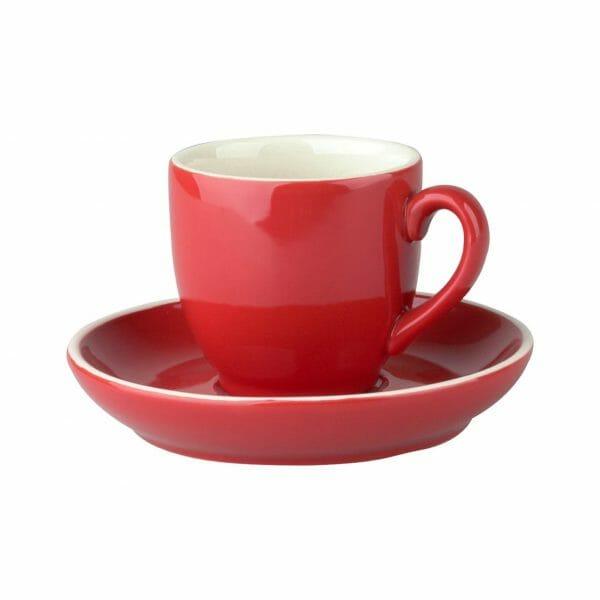 Bekijk de Robusta Koffie rood 15 cl. SET Kop en schotel Sets