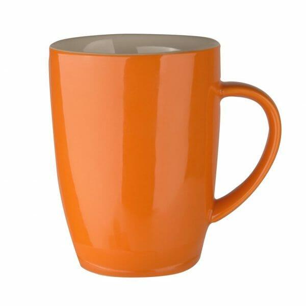Bekijk de Robusta mok oranje 18 cl. Mokken