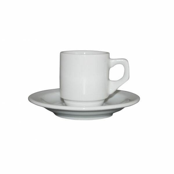 Bekijk de Sara Espresso wit 7 cl. SET Kop en schotel Sets