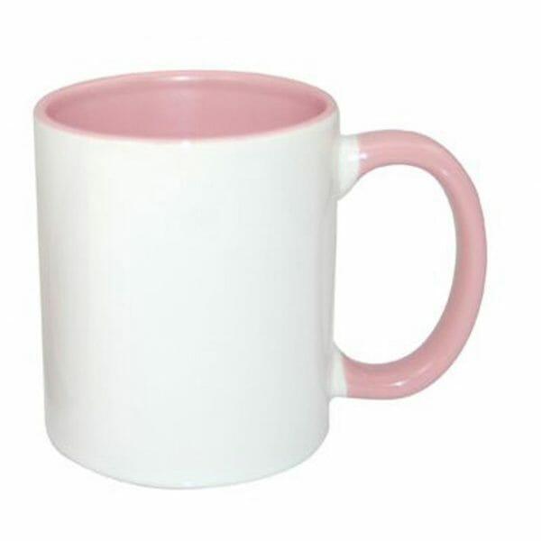 Bekijk de Sublimok gekleurde binnenzijde+oor roze 25 cl. Sublimatie artikelen