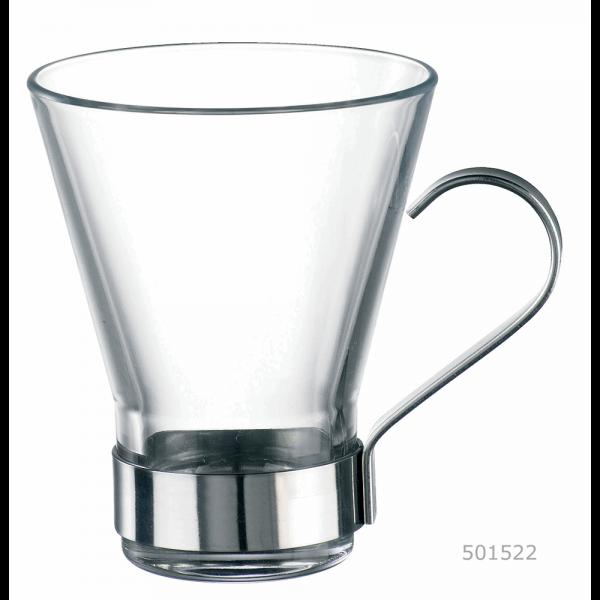 Bekijk de Theeglas 22 cl met houder cappuccino Ypsilon
