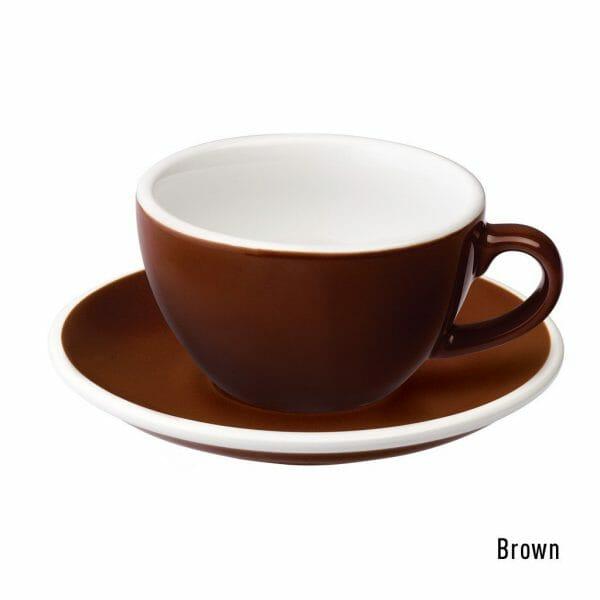 Egg Cappuccino Kop & Schotel 20 cl. Bruin
