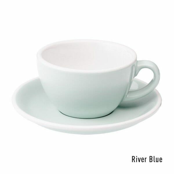Egg Cappuccino Kop & Schotel 20 cl. River Blue