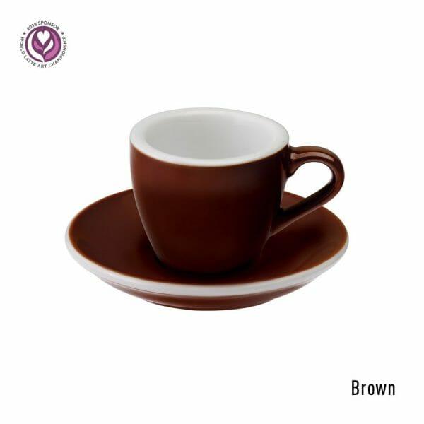 Egg Espresso Kop & Schotel 8 cl. Bruin