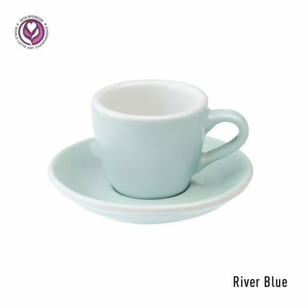 Egg Espresso Kop & Schotel 8 cl. River Blue