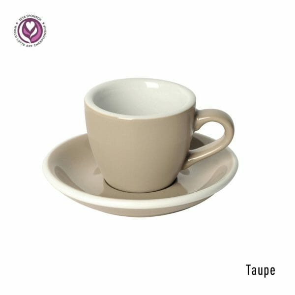 Egg Espresso Kop & Schotel 8 cl. Taupe
