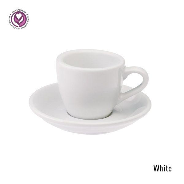 Egg Espresso Kop & Schotel 8 cl. Wit