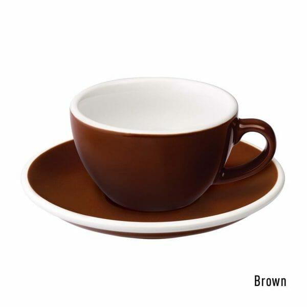 Egg Koffie Kop & Schotel 15 cl. Bruin