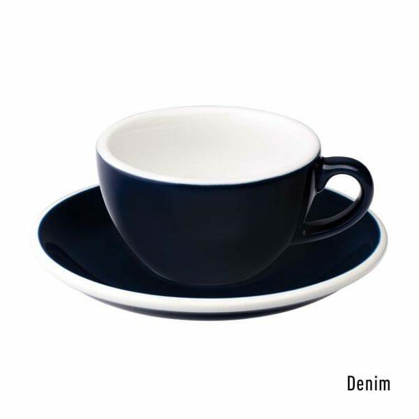 Egg Koffie Kop & Schotel 15 cl. Denim