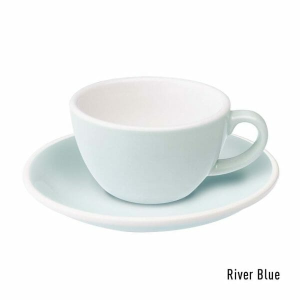 Egg Koffie Kop & Schotel 15 cl. River Blue