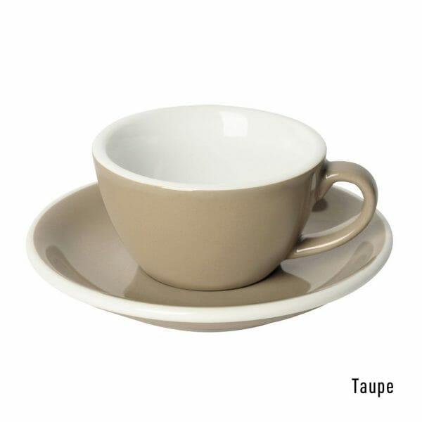 Egg Koffie Kop & Schotel 15 cl. Taupe