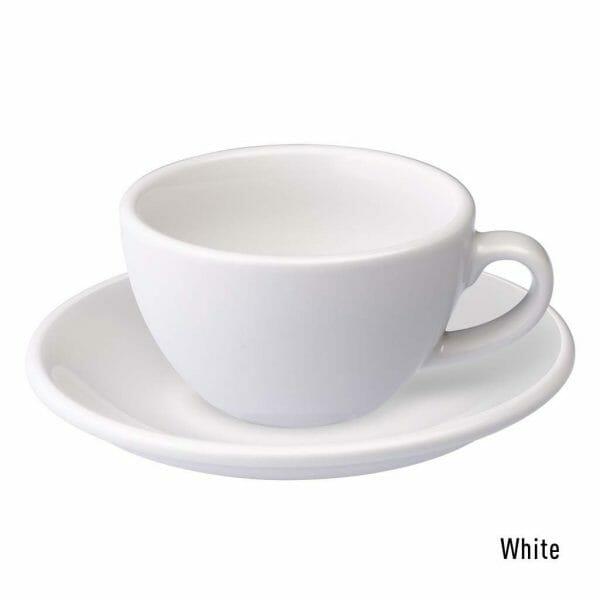 Egg Koffie Kop & Schotel 15 cl. Wit