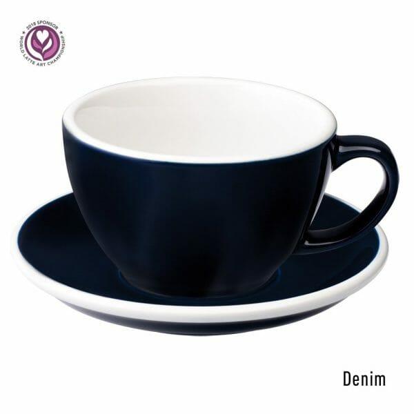 Egg Latte Kop & Schotel 30 cl. Denim