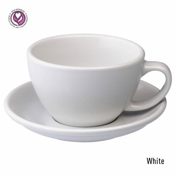 Egg Latte Kop & Schotel 30 cl. Wit