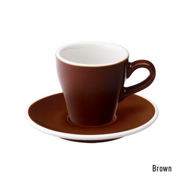 Tulip Espresso Kop & Schotel 8 cl. Bruin