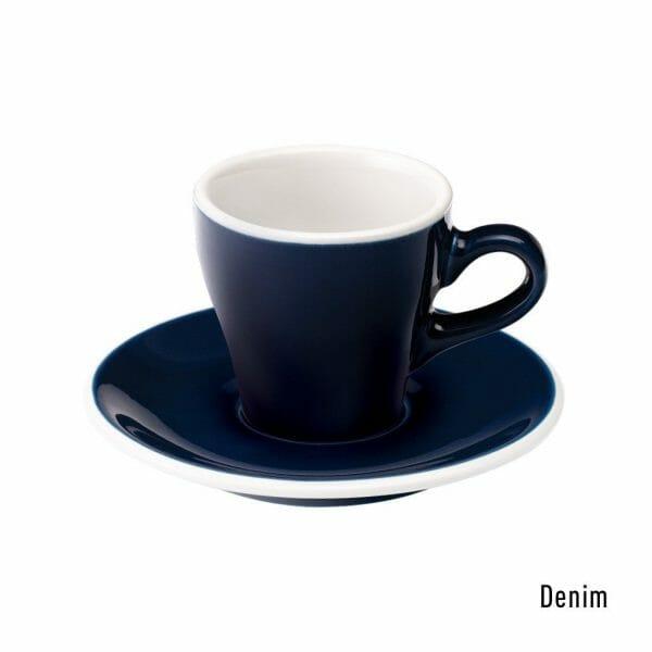 Tulip Espresso Kop & Schotel 8 cl. Denim
