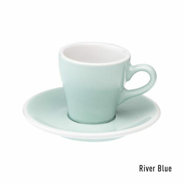 Tulip Espresso Kop & Schotel 8 cl. River Blue