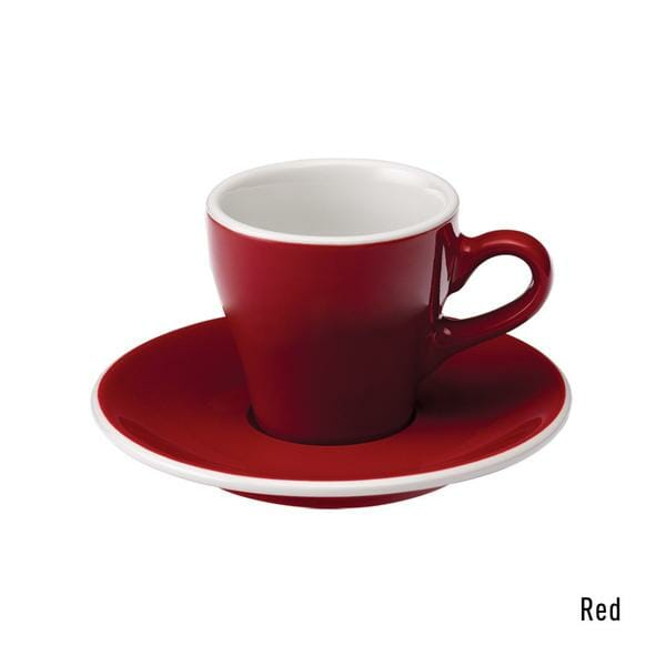 Tulip Espresso Kop & Schotel 8 cl. Rood