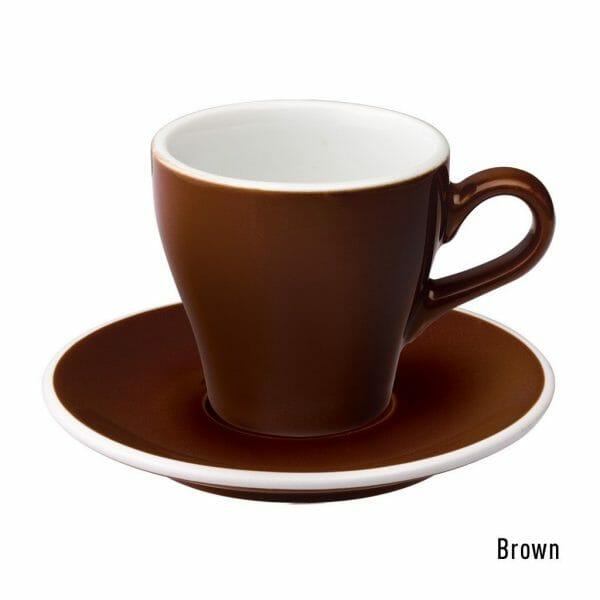 Tulip Koffie Kop & Schotel 18 cl. Bruin
