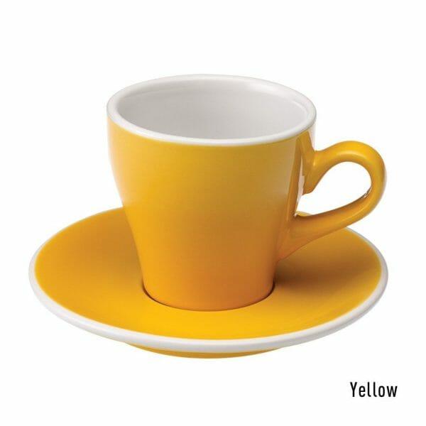 Tulip Koffie Kop & Schotel 18 cl. Geel