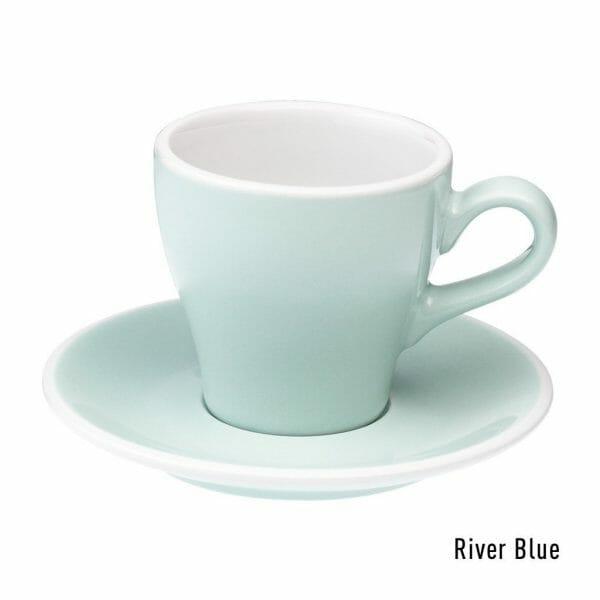 Tulip Koffie Kop & Schotel 18 cl. River Blue