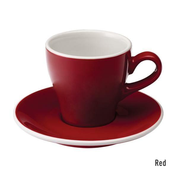 Tulip Koffie Kop & Schotel 18 cl. Rood