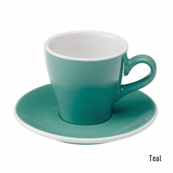 Tulip Koffie Kop & Schotel 18 cl. Teal