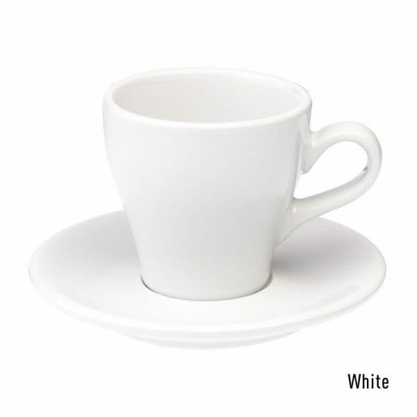 Tulip Koffie Kop & Schotel 18 cl. Wit