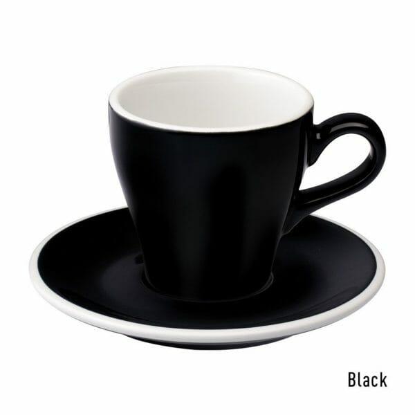 Tulip Koffie Kop & Schotel 18 cl. Zwart