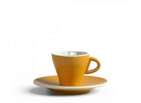 Gardenia Espresso kop en schotel Donker geel 6