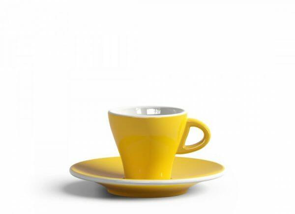 Gardenia Espresso kop en schotel Licht geel 6