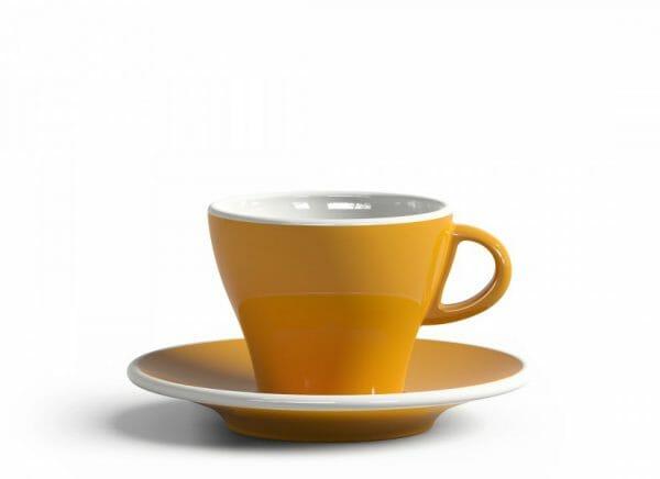 Gardenia Koffiekop en schotel Donker geel 18