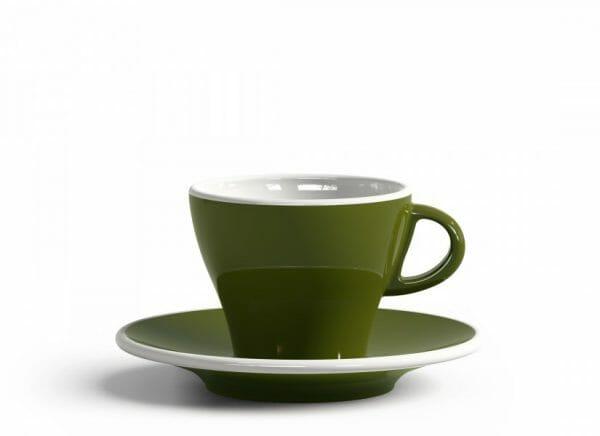 Gardenia Koffiekop en schotel Groen 18