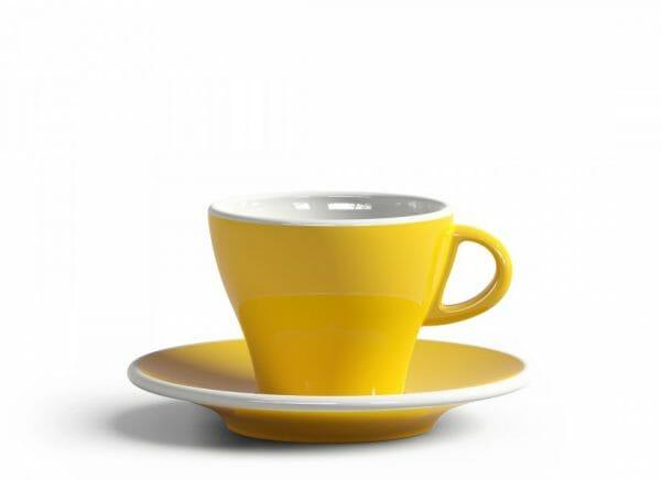 Gardenia Koffiekop en schotel Licht geel 18